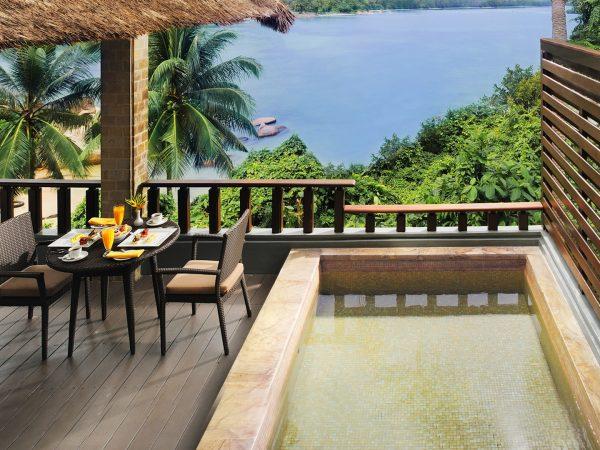 Banyan tree bintan pool side view