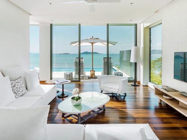 COMO-Point Yamu Three Bedroom Andaman Pool Villa Living Area