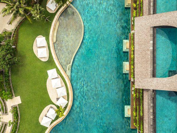 Como Uma Canggu Lagoon Pool view