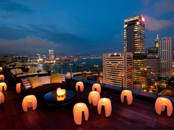 Hong Kong The Landmark Lobby Night View