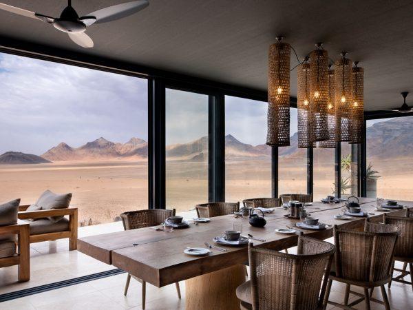 Indoor dining andBeyond Sossusvlei