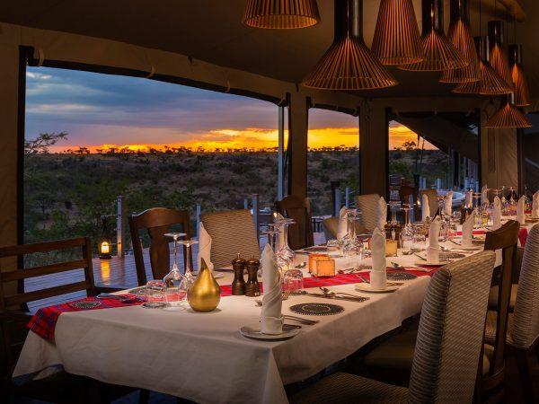 Mahali Mzuri Evening Dining