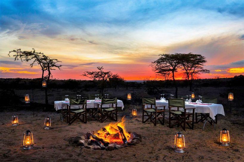 Mahali Mzuri Masai Mara bush dining