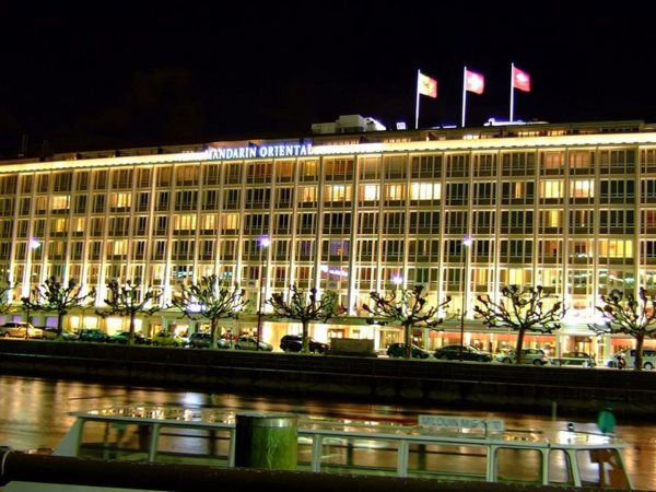 Mandarin Oriental Geneva Night View