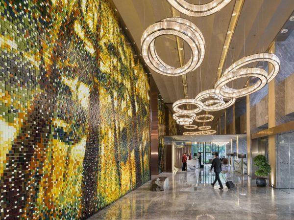 Mandarin Oriental Pudong shanghai hotel lobby