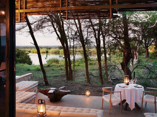 Matetsi River Lodge private diner