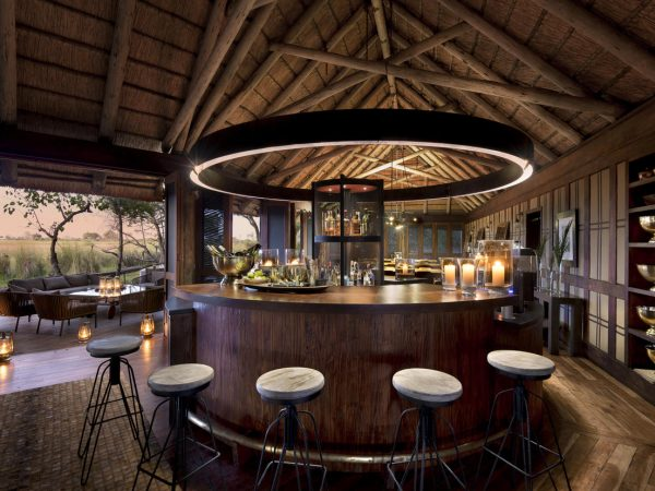 AndBeyond Nxabega Okavango Tented Camp bar