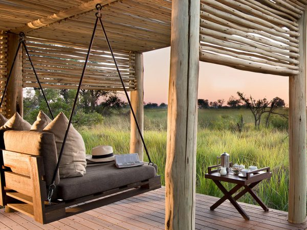 AndBeyond Nxabega okavango tented camp view from tent