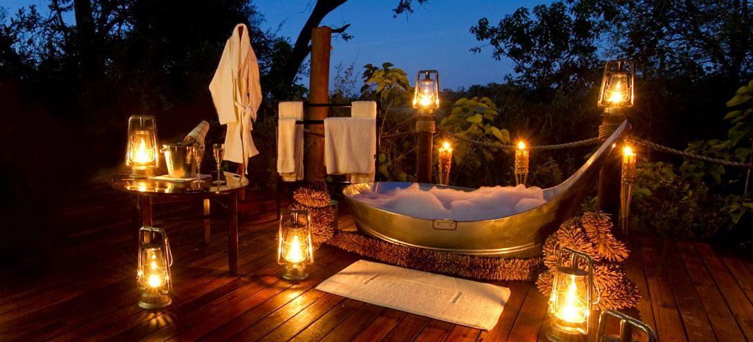 Sanctuary Baines Camp outdoor bathtub