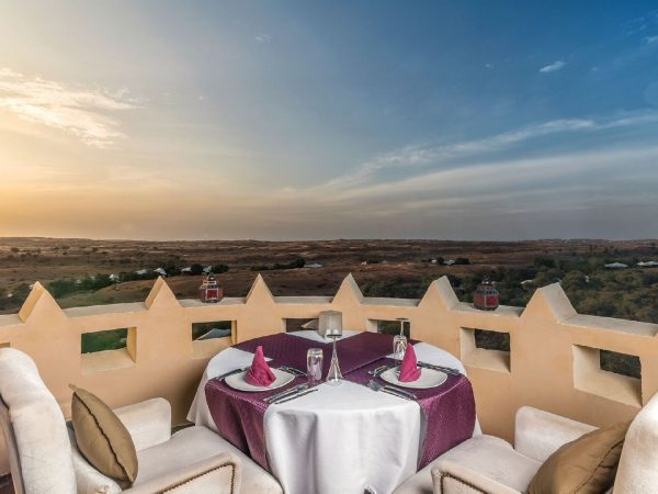 The Ritz Carlton AL Wadi Desert Dinning