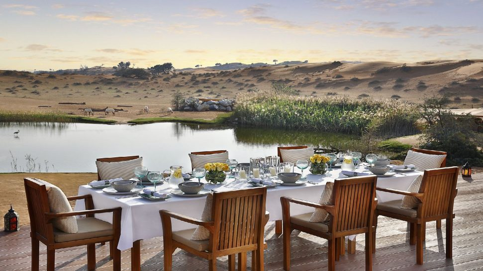 The Ritz Carlton AL Wadi Desert Outdoor Dinning