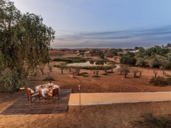 The Ritz Carlton AL Wadi Desert Private Dinning