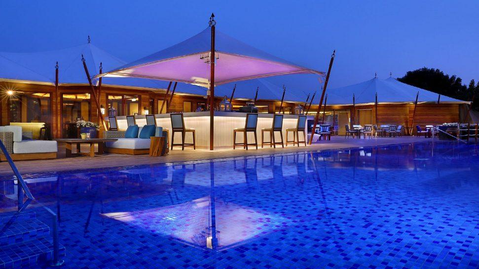 The Ritz Carlton Al Hamra Beach Pool side restaurant