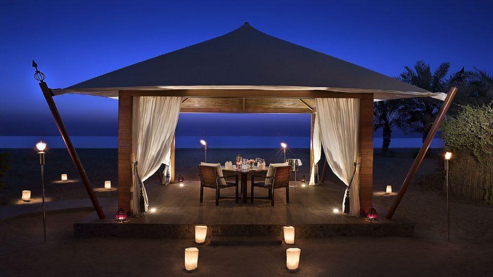 The Ritz Carlton Al Hamra Beach Private dinner