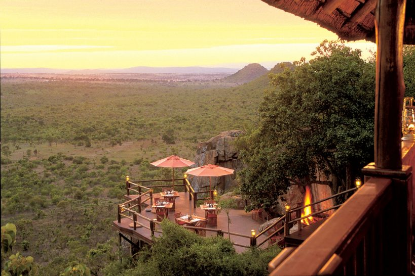 Ulusaba Private Safari Game Reserve Rock Lodge Deck Sunset