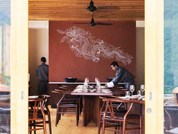 COMO Uma Punakha Bukhari restaurant