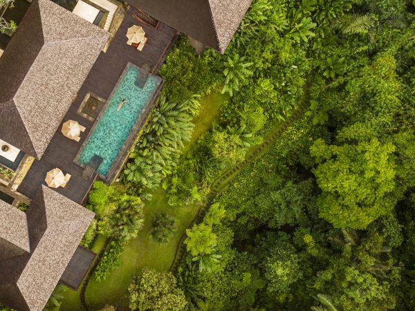 COMO Uma Punakha Tirta Ening residence aerial view