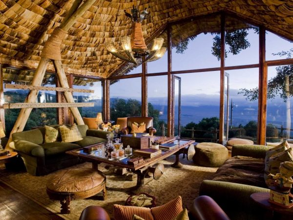 andBeyond Ngorongoro Crater Lodge Tanzania guest area