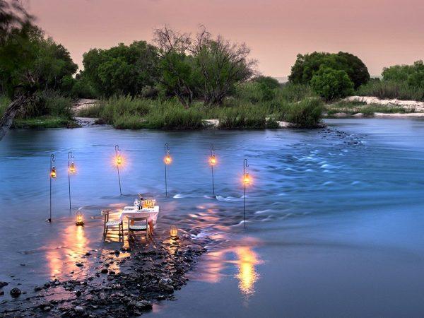 andBeyond Matetsi River Lodge Rapid Private Dinner