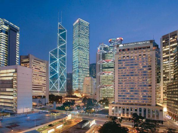 mandarin oriental Hong Kong Front view
