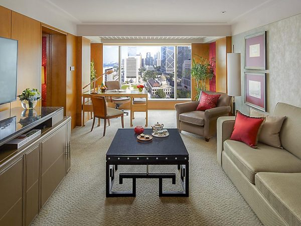 mandarin oriental Hong Kong harbour view suite