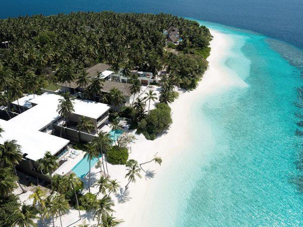 Amilla Fushi Maldives Aerial view