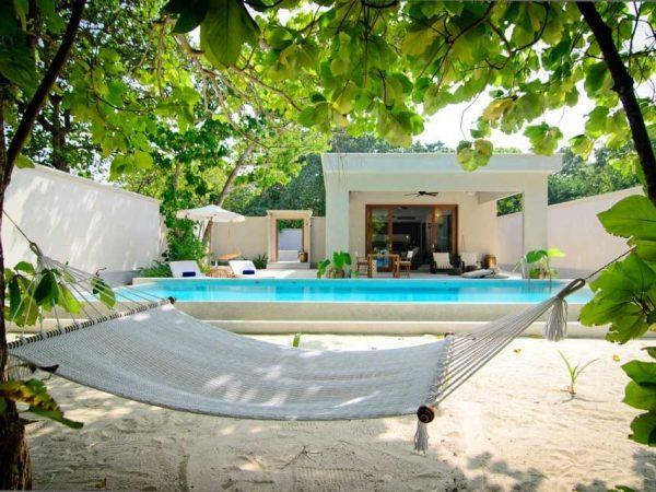 Amilla Fushi Maldives Beach House Deck