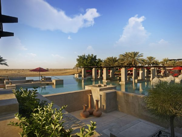 Bab Al Shams Swimming pool overview