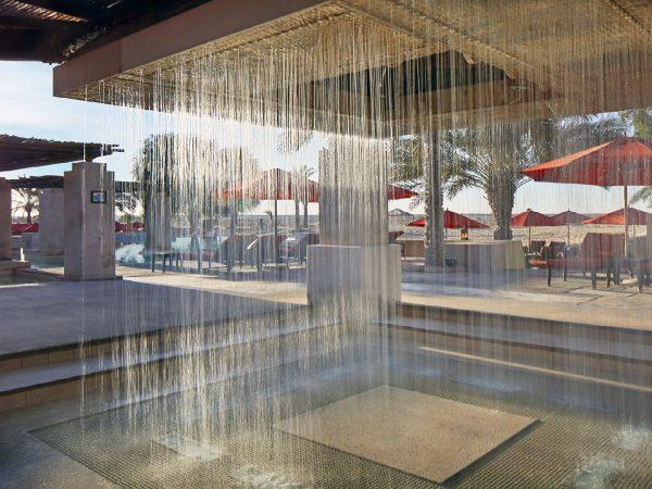 Bab Al Shams pool side rainshower area