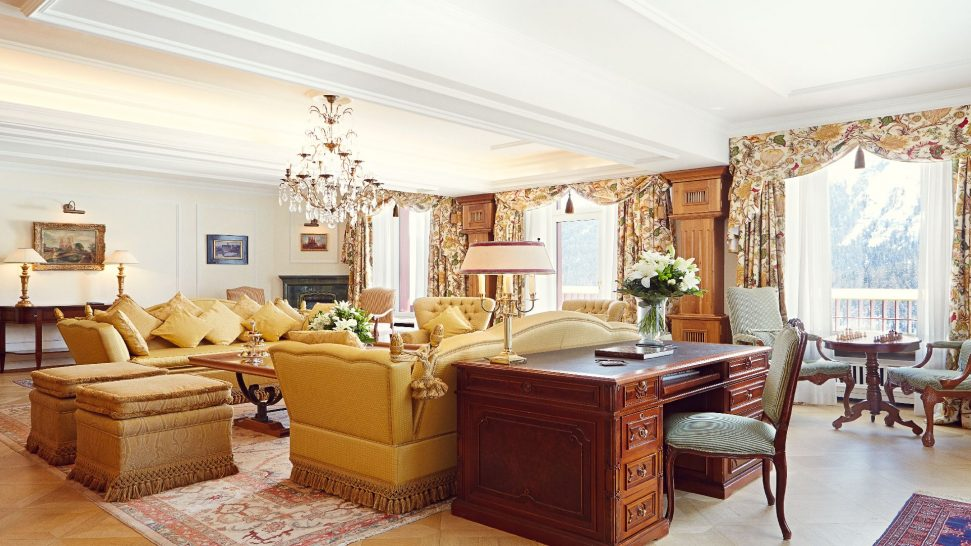 Badrutts Palace Hotel Helen Badrutt Suite Living Room