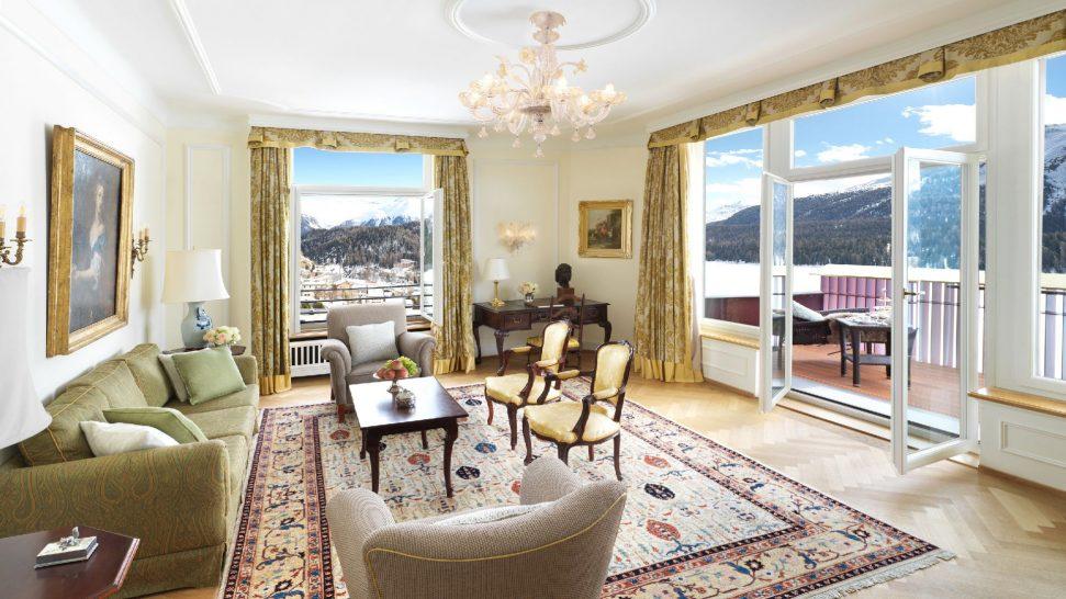 Badrutts Palace Hotel Suite St. Moritz Living Room