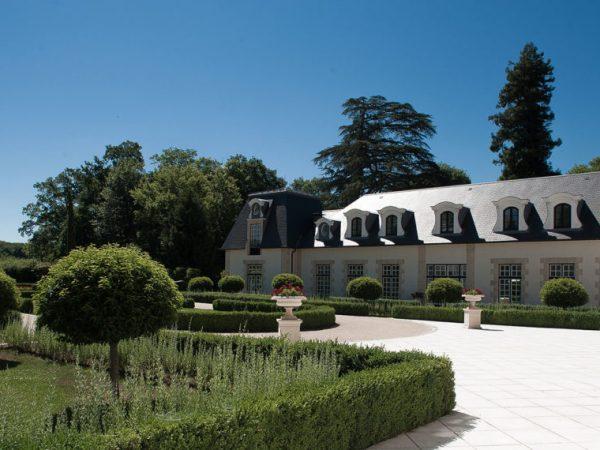 Chateau du Coudreceau Estates Front Drive Swimming Pool Building