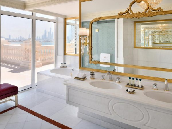 Emerald Palace Kempinski Dubai Skyline View Suite Bathroom