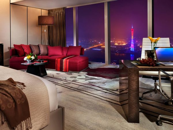Four Seasons Hotel Guangzhou Deluxe Suite Canton tower view