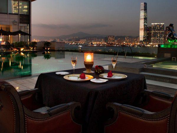 Four Seasons Hotel Hong Kong Lobby Night View