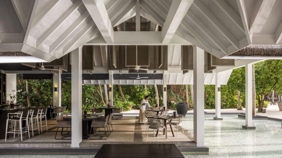 Four Seasons maldives private island at voavah Cafe Landaa