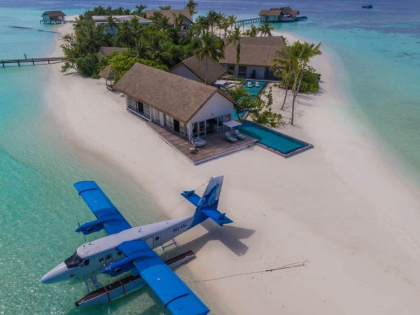 Four Seasons maldives private island at voavah island overview