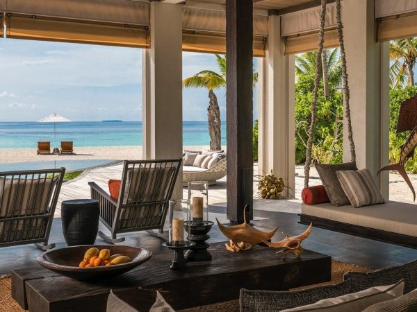 Four Seasons maldives private island at voavah open air living room