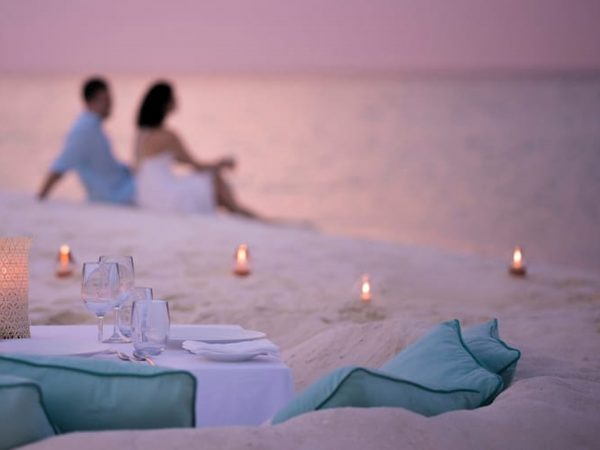 Four Seasons maldives private island at voavah sunset cocktails