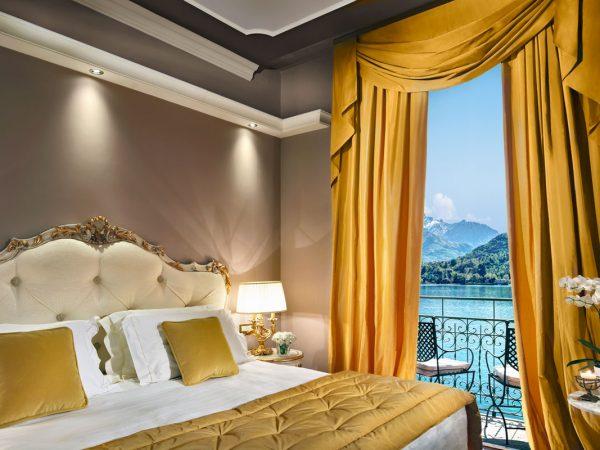 Grand Hotel Tremezzo Suite Aurelia bedroom