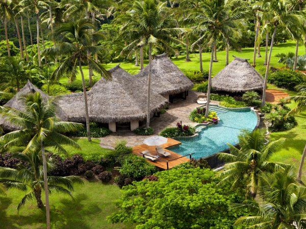 Laucala Island Hilltop Estate Villa Tolu Aerial