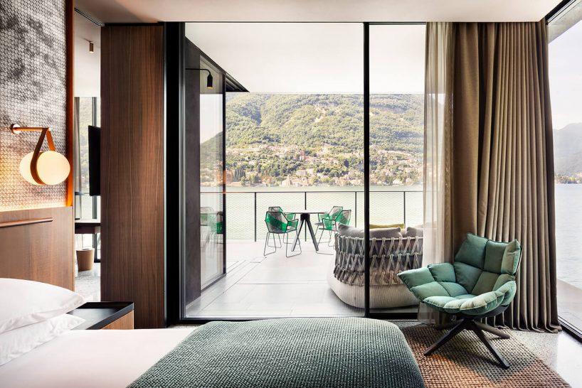 Il Sereno Hotels The Darsena Suite Bedroom view