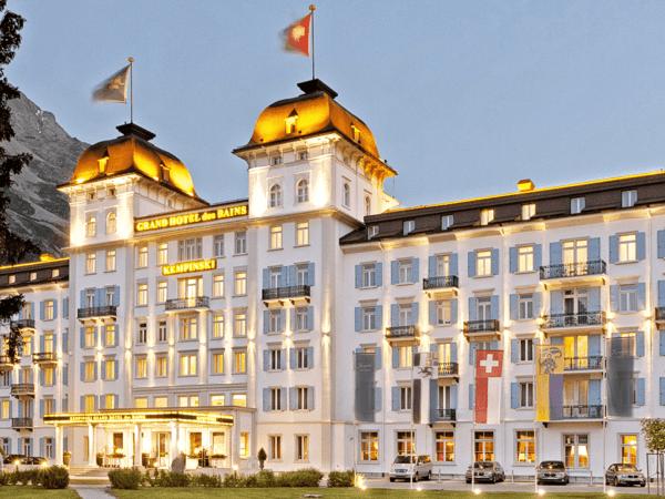 Kempinski Grand Hotel Des Bains St. Moritz Exterior View