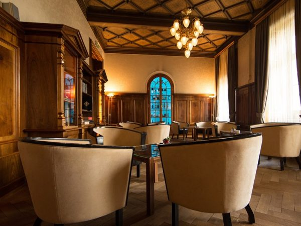 Kempinski Grand Hotel Des Bains St. Moritz Kempinski smokers lounge and library