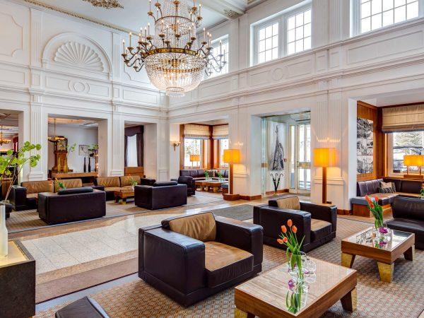 Kempinski Grand Hotel Des Bains St. Moritz full Lobby View