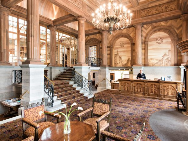 Kulm Hotel St. Moritz Entrance