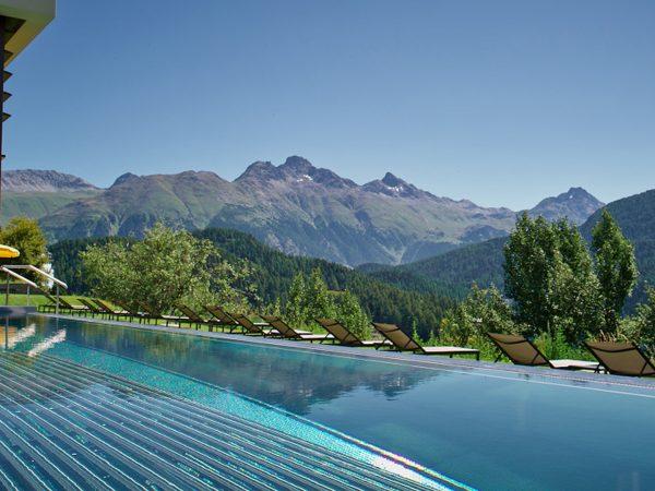 Kulm Hotel St. Moritz Pool View