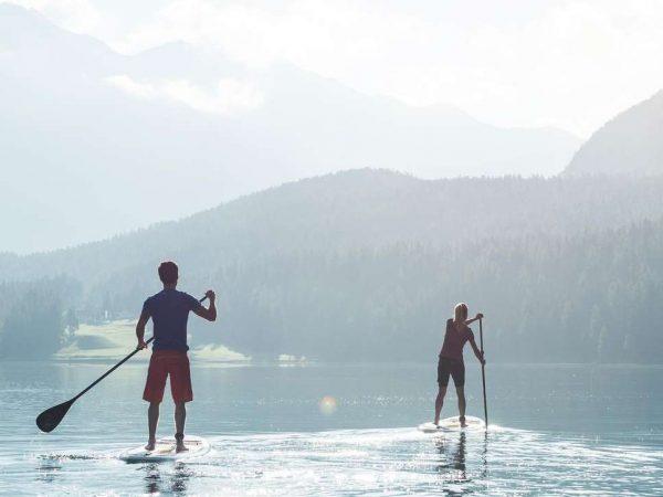 Kulm Hotel St. Moritz Standup paddling