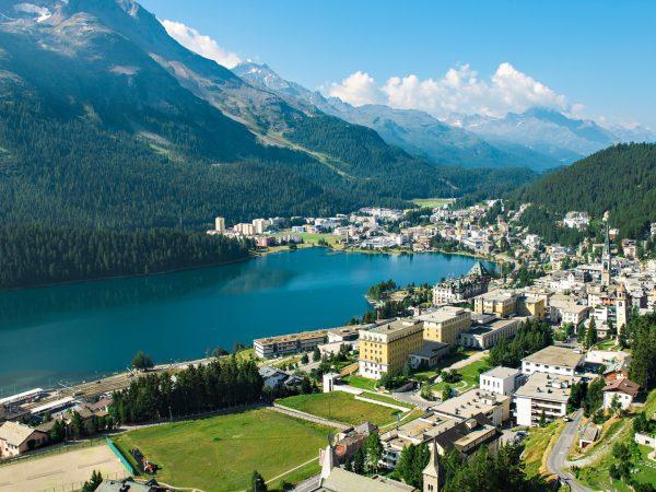 Kulm Hotel St. Moritz Top View