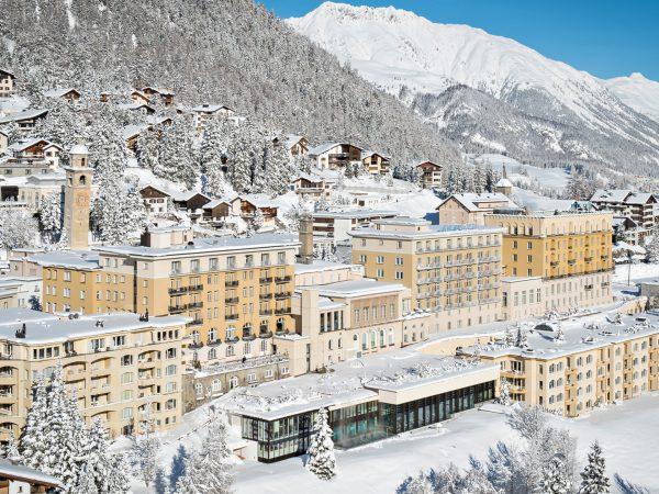 Kulm Hotel St. Moritz Winter Exterior View